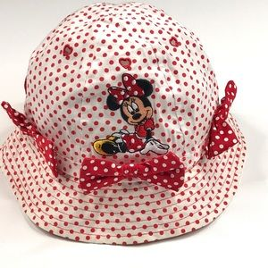 Disney Minnie Mouse Red Polka Dot Hat with Bows